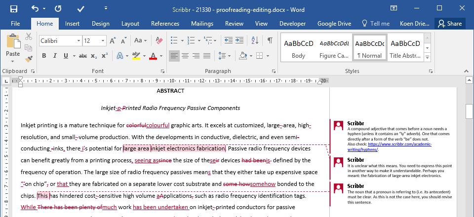 Exempel på korrekturläst examensarbete
